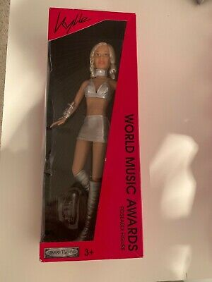 Kylie Minogue World Music Awards Poseable Figure Doll Jakks Pacific 2003 • 12£