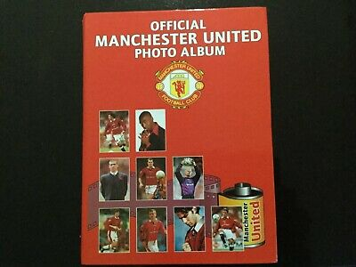 Manchester United Photo Album With Full Set Of 120 Photos - 1996/97 • 10£