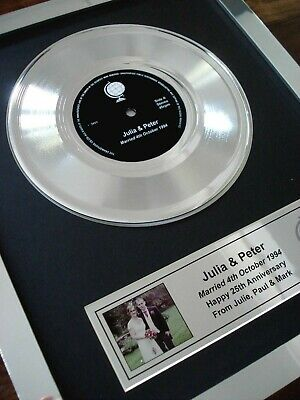 Your Own Personalised Gold Platinum / Silver Disc Single Record Lp Presentation • 129.99£