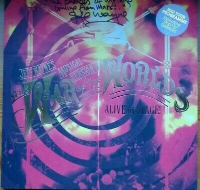 Jeff Wayne's War Of The Worlds 2010 Tour Programme - Signed & Messaged By Jeff • 120£