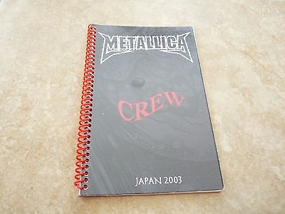 Metallica Madly In Anger Japan Crew 2003 RARE Band Concert Tour Itinerary Book • 60.03£