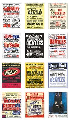 The Beatles UK Concert Posters Trading Card Set Vol 1 FREE UK POSTAGE • 5.24£