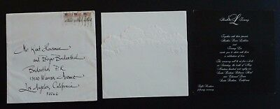 Tommy Lee & Heather Locklear 100% Real 1986 Wedding Invitation Complete • 468.13£
