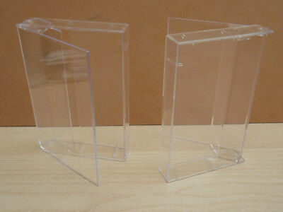 10  Audio Cassette Tape Single Clear Cases - Without Pins • 9.77£