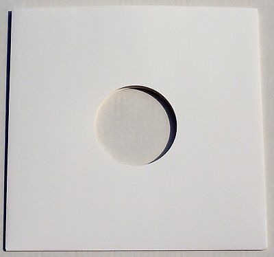25 12  White Card Record Sleeves Covers Disco Bags / Gloss Finish *new* Free P+p • 9.99£