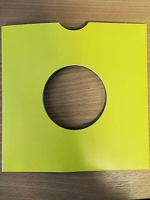 100 X 7  Yellow Card Record Masterbags Sleeves / Covers *new*  • 15.89£