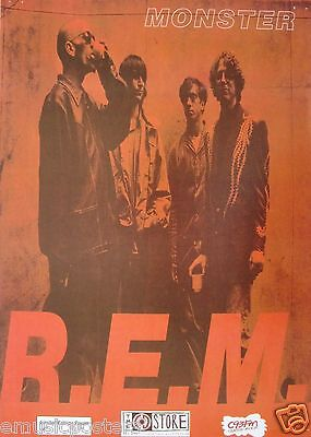 R.e.m.  Monster  New Zealand Limited Edition Numbered Promo Poster • 17.75£