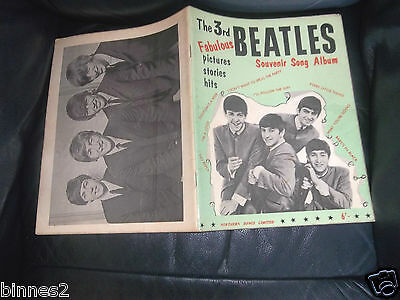 THE BEATLES ORIGINAL OFFICIAL SHEET MUSIC BOOK GENUINE ITEM FROM 1964 3rd Issue • 24.99£