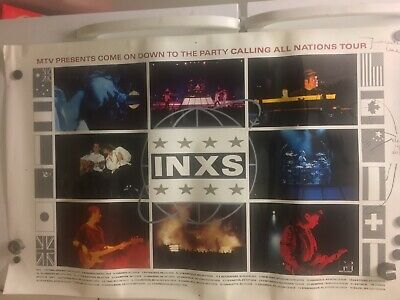 One Of A Kind! Vintage 1988 INXS MTV TOUR POSTER: PRE-PRINT PRODUCTION!!! • 73.34£