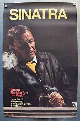 Frank Sinatra The Man And His Music Original 1981 Reprise NBC Promo Poster  • 90.06£
