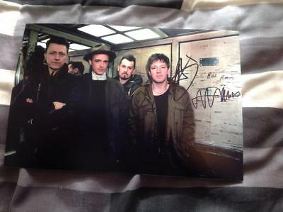 Travis Band Hand Signed 12 X 8 Photo The Man Who The Invisible Band Fran Healy • 31.99£