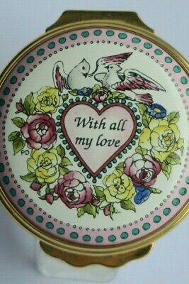 HALCYON TRINKET BOX VALENTINE'S DAY 1996 With All My Love • 39.99£