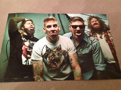Mastodon Metal Hand Signed 12 X 8 Photo Brent Hinds Emperor Of Sand Proof W Coa • 37.99£
