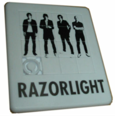 RAZORLIGHT Promo Tile Puzzle 2006 UK Promo Only Novelty Sliding Tile Puzzle • 5£