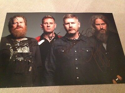 Mastodon Metal Hand Signed 12 X 8 Photo Brent Hinds Leviathan Proof W Coa • 37.99£