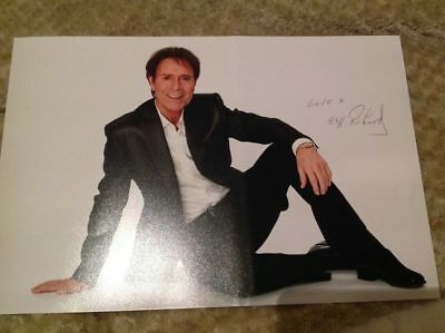Sir Cliff Richard Hand Signed 12 X 8 Photo The Shadows Legend With Coa • 89.99£