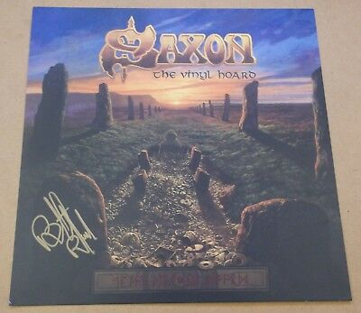 SAXON The Vinyl Hoard 2016 UK Promo Only SIGNED / AUTOGRAPHED Print + CoA • 25£
