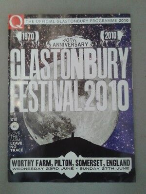 Glastonbury Festival 2010. 40th Anniversary (23rd-27th June) Programme. £4 • 4£
