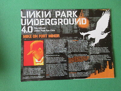 Linkin Park Underground Fan Club 4.0 Official Fold Out Poster • 10.23£