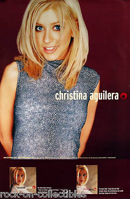 Christina Aguilera 1999 Debut Album Original Promo Poster • 11.11£