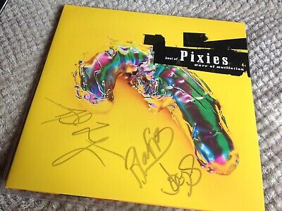 The Pixies Band Hand Signed Lp Vinyl Best Of Wave Of Mutilation Black Francis • 119.99£