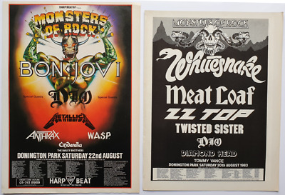 MONSTERS OF ROCK 2 X VINTAGE ORIGINAL ADVERTS HEAVY METAL POSTER FLYER CUTTINGS  • 9.99£