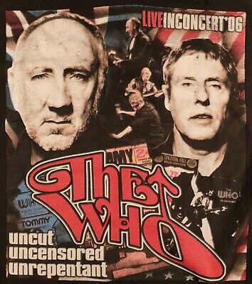The Who 2006 Official U.s Tour T Shirt Mods Scooter Mod Rock Worn/used • 16£