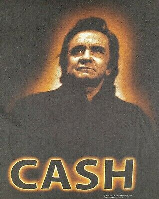 Johnny Cash 2004 Original T Shirt Rockabilly Blues Country Rock And Roll Size Xl • 18£