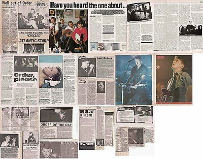 NEW ORDER : CUTTINGS COLLECTION - Interviews Etc  1980s • 5£