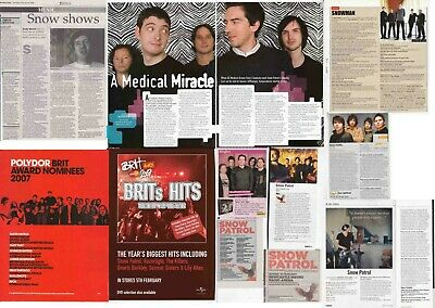 SNOW PATROL : CUTTINGS COLLECTION - Interviews Adverts • 3.70£