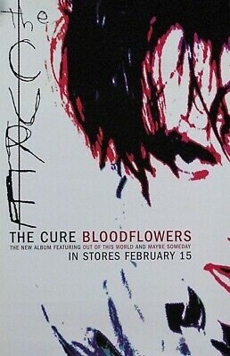 The Cure 2000 Blood Flowers Original Promo Poster • 18.75£