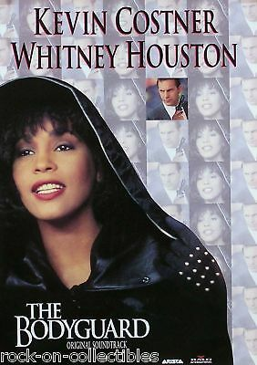 Whitney Houston 1992 Bodyguard Soundtrack Original Promo Poster Kevin Costner • 11.58£