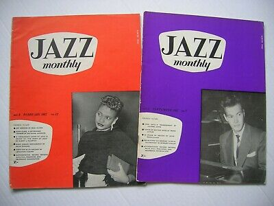 2 X  Jazz Monthly  Magazines Feb & Sept 1957-  32pg Each, Great Cond. • 6.99£