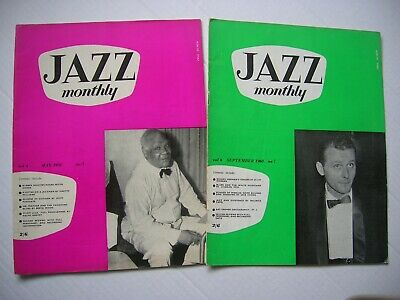 2 X  Jazz Monthly  Magazines May 1958 & Sept 1960-  32pg Each, Great Cond. • 6.99£