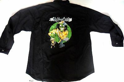 MOTLEY CRUE  Black Shirt, With Motley Crue Embroidered Logo Front And Back,Large • 39.99£
