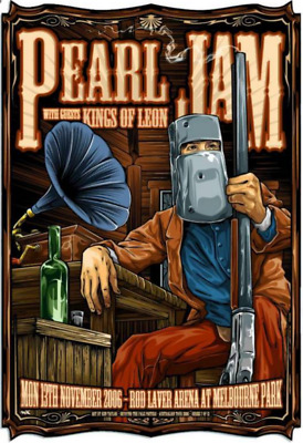Pearl Jam / Kings Of Leon Rod Laver Arena 2006 Poster Mint/New • 75£