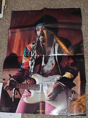 Original JIMI HENDRIX 1977 Graphic West Poster #412 Measures 34  X 23  • 47.85£