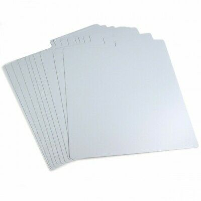 Set Of 25 X 12  Plastic Vinyl Record Wipeable Dividers [White]  + 24h Delivery • 19.95£