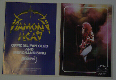Diamond Head Official Fan Club Folder, Merch Brochure And 16 Page Booklet NWOBHM • 9.99£