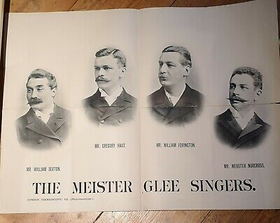 [c.1890s] Poster - The Meister Glee Singers • 9.99£