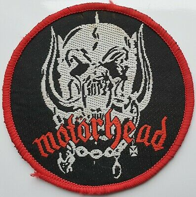 Motorhead Vintage Original Woven Patch Lemmy Biker Rock Heavy Metal Red Border • 20£