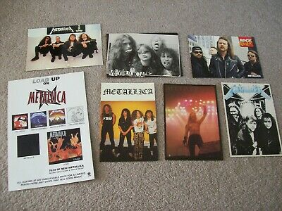 7 X Metallica Unused Postcard Bundle 1980's/90's • 5.99£