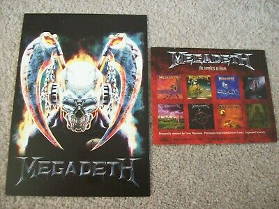 2 X Megadeth United Abominations / System Has Failed Postcard Flyers • 1.99£