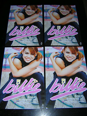 4 Small Original Billie Piper Promotional Posters - Girlfriend • 6.95£
