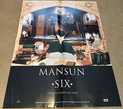 Mansun - Six. Rare Double Sided Promotional Poster. • 6.50£