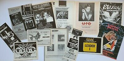 Nwobhm Vintage Original Adverts Cuttings Pin Up Flyer Ads Heavy Metal Saxon Ufo • 12£