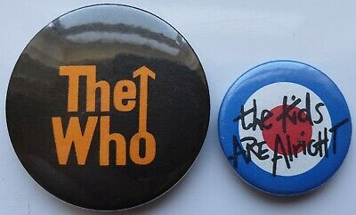 The Who Mod Vintage Button Badges Rock Scooter Mods Pete Townshend Roger Daltrey • 7.99£