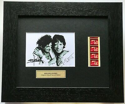 THE ROLLING STONES Mick Jagger & Keith Richards Repro Signed Original Film Cells • 35.99£