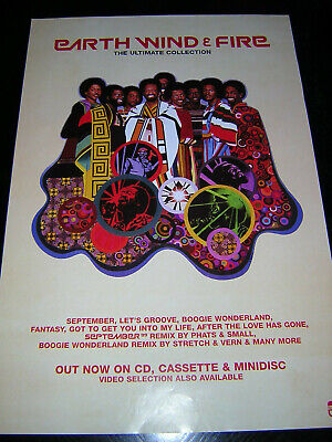 Original Earth Wind & Fire Promotional Poster - Ultimate Collection • 6.95£