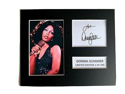 Limited Edition Donna Summer Signed Mount  Music Preprint Display • 5.99£